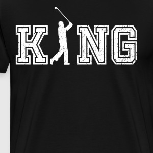 King of Golf graphic golfer shirt - Men's Premium T-Shirt
