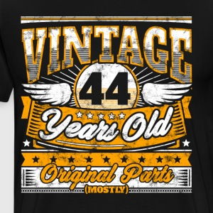Funny 44th Birthday Shirt: Vintage 44 Years Old - Men's Premium T-Shirt