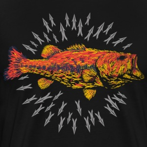 LARGE MOUTH BASS UPSCALE LURES - Men's Premium T-Shirt