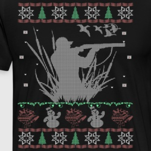 Duck Hunting Ugly Christmas Sweater - Men's Premium T-Shirt