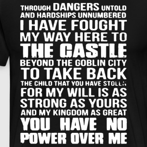 Through dangers untold and hardships unnumbered i - Men's Premium T-Shirt