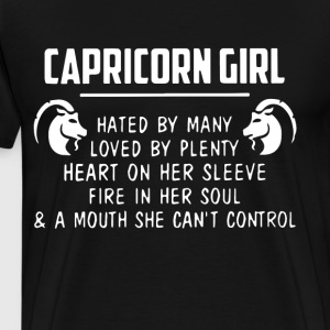 capricorn girl hated by many loved by plenty heart - Men's Premium T-Shirt