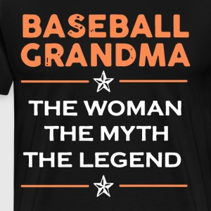 baseball grandma the woman the myth the legend tee - Men's Premium T-Shirt
