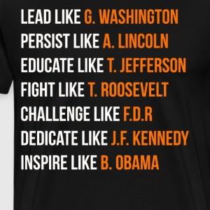 Lead like G. Washington - Men's Premium T-Shirt