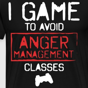 i game to avoid anger management classes t-shirts - Men's Premium T-Shirt