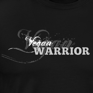 Vegan Warrior [greyscale] - Men's Premium T-Shirt
