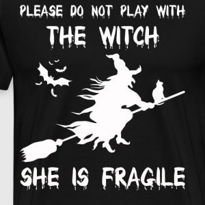 Please do not play with the witch - Men's Premium T-Shirt