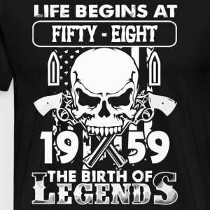 1959 the birth of Legens - Men's Premium T-Shirt