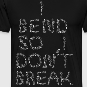 I Bend So I Dont Break unicorn letters white - Men's Premium T-Shirt