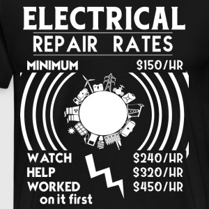 Electrical Repair Rates T Shirt - Men's Premium T-Shirt