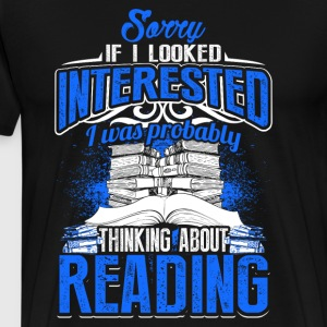 Thinking About Reading - Men's Premium T-Shirt