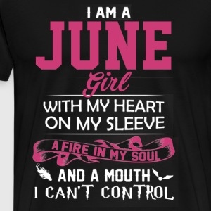 June Birthday Shirts June Girl Tee June Girl Shirt - Men's Premium T-Shirt