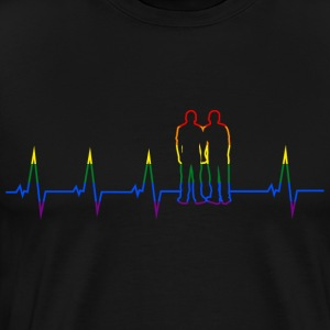 Gay Heartbeat Couple - Men's Premium T-Shirt