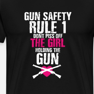 Gun Safety Funny Graphic T-shirt