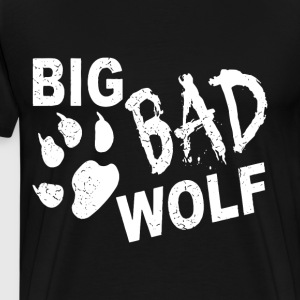 Big Bad Wolf Paw Distressed White Funny Novelty T - Men's Premium T-Shirt