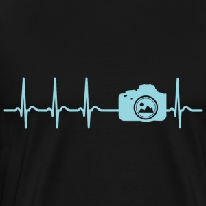 Heartbeat Photograph Camera Picture Funny Gift Fun - Men's Premium T-Shirt