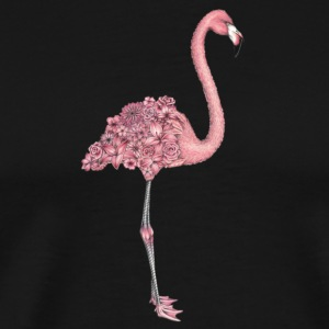 Flower Flamingo - Men's Premium T-Shirt