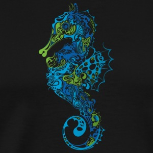 Abstract Sea horse animal wildlife vector image - Men's Premium T-Shirt