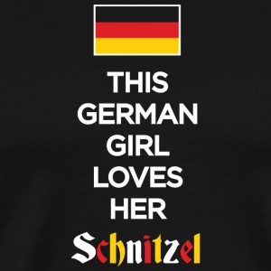 SCHNITZEL - THIS GERMAN GIRL LOVES HER SCHNITZEL - Men's Premium T-Shirt