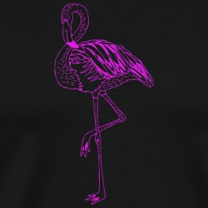Flamingo bird shape wildlife sketch vector image - Men's Premium T-Shirt