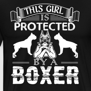 Protected By A Boxer Shirt - Men's Premium T-Shirt