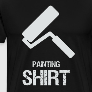 Painting with roller - Men's Premium T-Shirt
