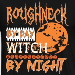 Roughneck By Day Witch By Night Halloween - Men's Premium T-Shirt