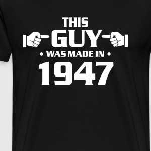 70th birthday shirts - Vintage 1947 birthday shirt - Men's Premium T-Shirt
