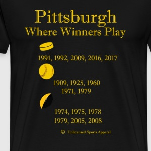 Where Winners Play-Pittsburgh - Men's Premium T-Shirt