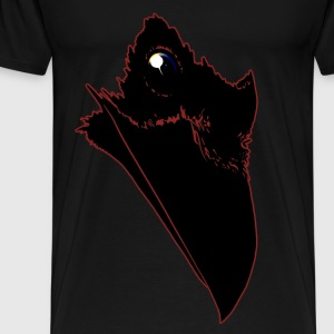 Universe Raven - Red Outlined - Men's Premium T-Shirt
