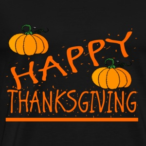 happy thanksgiving pumkin - Men's Premium T-Shirt