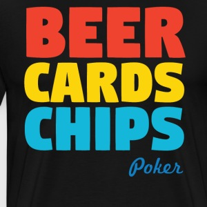 Beer Cards Chips Poker - Men's Premium T-Shirt