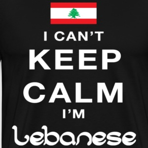 I can t keep calm i m lebanese - Men's Premium T-Shirt