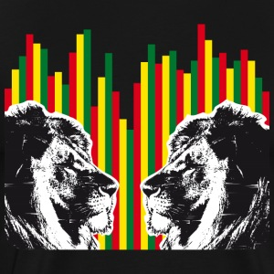 Reggae lions, lions of judah - Men's Premium T-Shirt