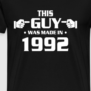 25th birthday shirts - made in 1992 shirts for men - Men's Premium T-Shirt
