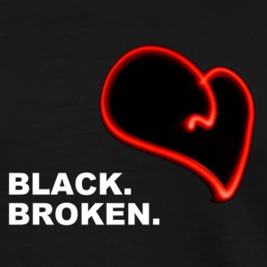 Black Broken Heart - Men's Premium T-Shirt