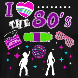 I love the 80s/Eighties/Disco/Heart/Theme Party - Men's Premium T-Shirt