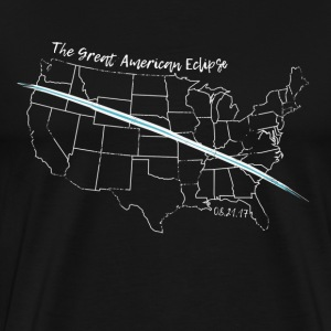 The Great American Eclipse Map Totality. WHITE - Men's Premium T-Shirt