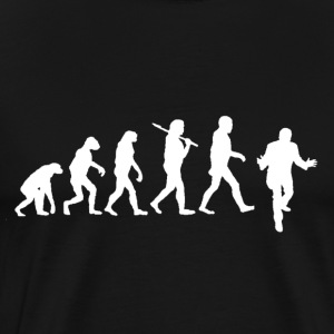 DFP Evolution - White Logo - Men's Premium T-Shirt
