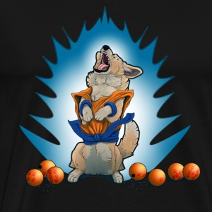 Snack Ball Z - Cardigan Corgi - Men's Premium T-Shirt