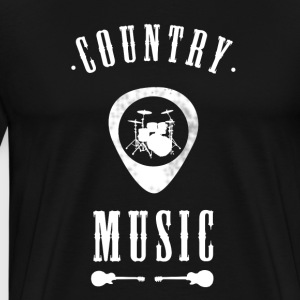 country Music band drums Guitar plectron Rock jazz - Men's Premium T-Shirt
