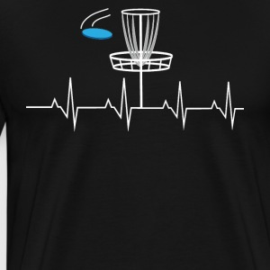 Disc golf heartbeat - Men's Premium T-Shirt