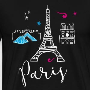 paris france Europe Trip Tourist Eiffel Tower eu - Men's Premium T-Shirt