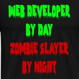 WEB ZOMBIE GEEK - Men's Premium T-Shirt