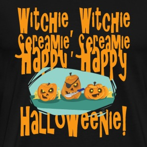 Witchie Screamie Happy Halloweenie - Men's Premium T-Shirt