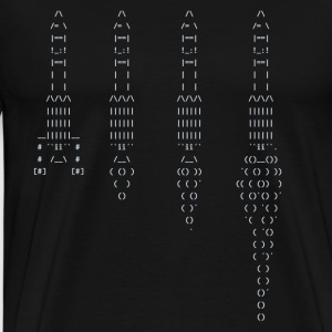 ASCII rocket - Men's Premium T-Shirt