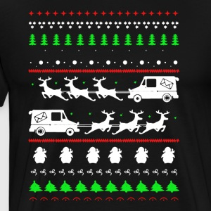 Postal Worker Christmas Shirts - Men's Premium T-Shirt