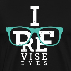 Optometrist Eye Chart - I Revise Eyes - Men's Premium T-Shirt
