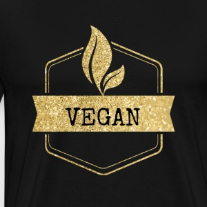 Vegan Button for the world and the animals - Men's Premium T-Shirt