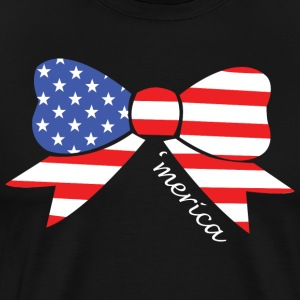 America Bow Graphic Patriotic 039 Merica T shirt - Men's Premium T-Shirt